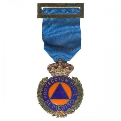 MEDALLA MERITO PROTECCION CIVIL DISTINTIVO AZUL ORO