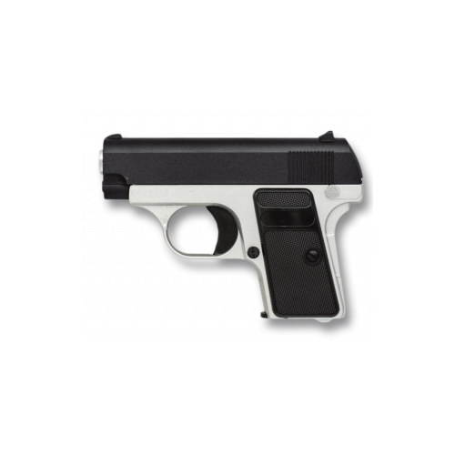PISTOLA MINI GALAXY NEGRA/PLATA AIRSOFT