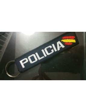 LLAVERO PERSONALIZADO AZUL MARINO TACTICO POLICIAL