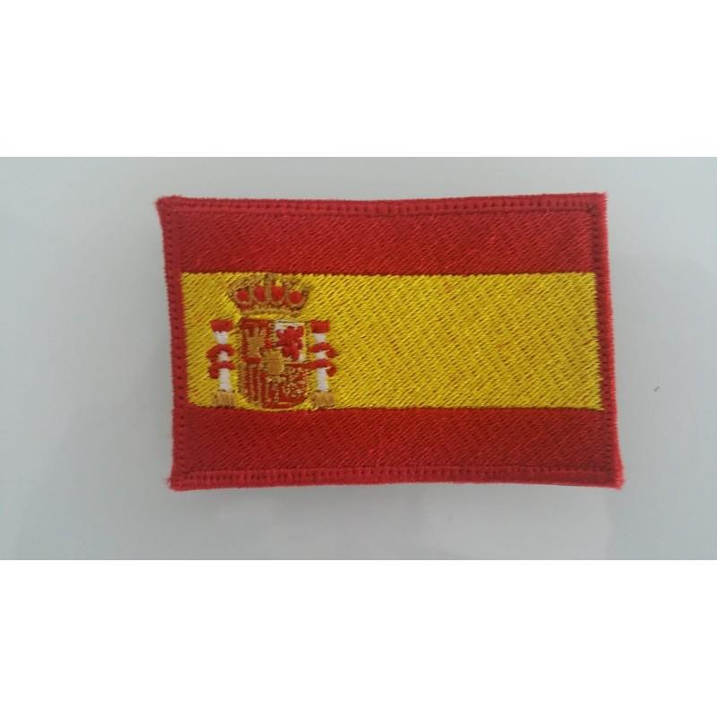 PARCHE BANDERA DE ESPAÑA EN COLOR 8X5