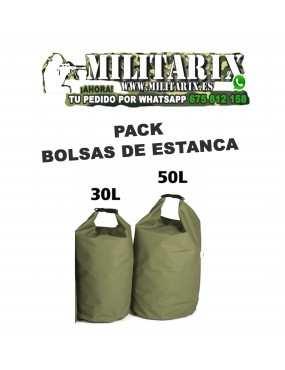 PACK BOLSAS DE ESTANCA DE 30 Y 50 LITROS