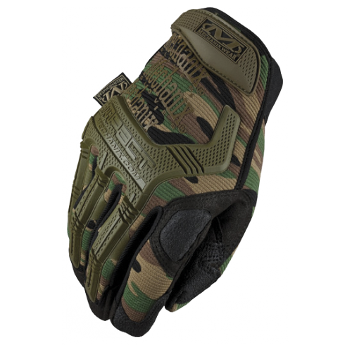 GUANTES TACTICOS MECHANIX M-PACT CAMO (BOSCOSO) (WOODLAND)